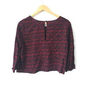 Pins & Needles Tops - Cropped paisley blouse